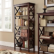 4 shelf Crossbar Bookcase