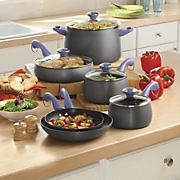 paula deen 10 pc hard anodized nonstick cookware set 1