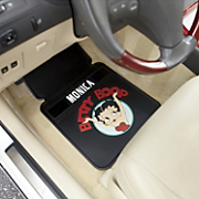 set of two personalized character car mats