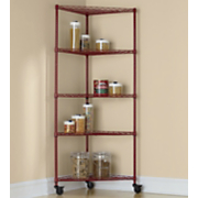 5 Shelf Metal Rolling Corner Rack