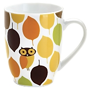 Rachael Ray Mugs Little Hoot Set Of 4
