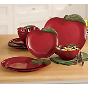 12 Pc Apple Dinnerware Set