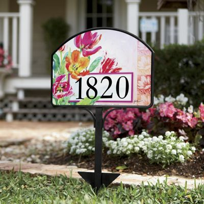 spring tulips address sign