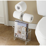 bath tissue magazine holder