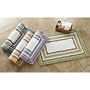 multistripe bath mat