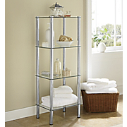 glass tower shelf