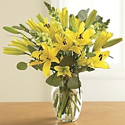 fresh cut sunny radiance lily bouquet
