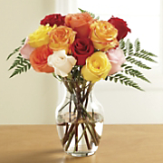 fresh cut dozen gems rose bouquet