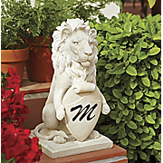 lion with personalized plaque