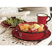 16 Piece Ruffle Dinnerware Set