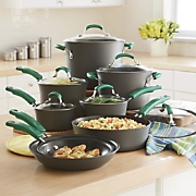 rachael ray hard anodized nonstick cookware set