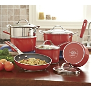 cat cora 10 pc forged nonstick aluminum cookware set