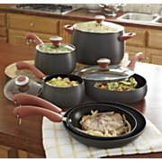 paula deen 10 pc hard anodized nonstick cookware set