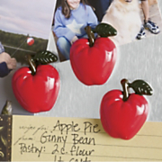 Set Of 10 Apple Magnets