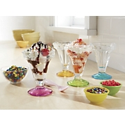 set of 4 libbey sundae cups