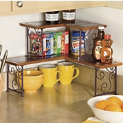 Colorblock 2 Tier Corner Shelf