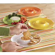 set of 4 mini chip dip plates