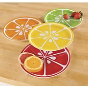 set of 4 citrus plates