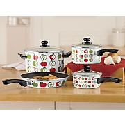 ginny s brand 7 pc apple cookware