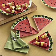 set of 4 watermelon plates