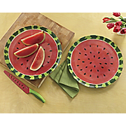 set of 2 watermelon platters