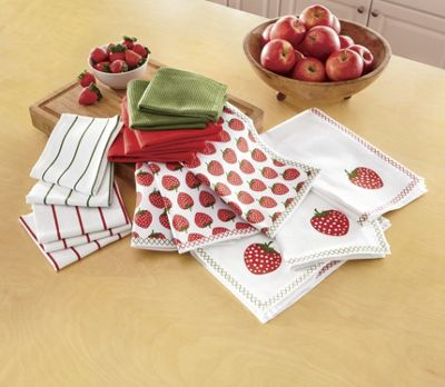 16 pc strawberry cotton towel set