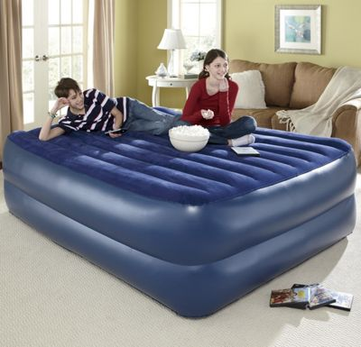 Queen Air Bed   Flocked Top