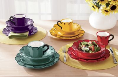 Dinnerware 16 Pc Scalloped Set