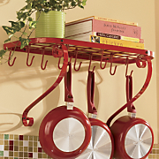 Wall Mount Bookshelf Pot Rack