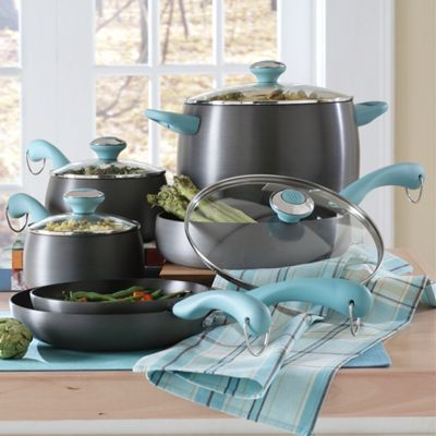 Paula Deen 10 piece Hard Anodized Cookware Set