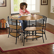 smart circle 5 piece table and chairs set