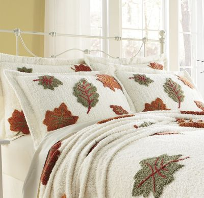 Chenille Autumn Leaf Sham