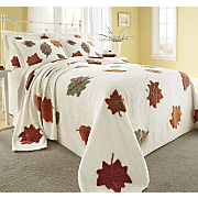 Chenille Autumn Leaf Bedding