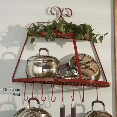 2 Tier Half Moon Wall Pot Rack