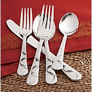 Felicity Frost 20-Piece Stainless Steel Flatware Set