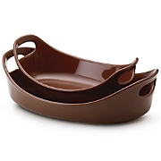 Rachael Ray Bubble  Brown Set of 2
