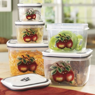 5 Piece Apple Container Set