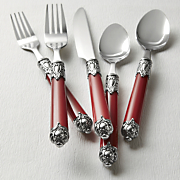 20 Pc Double Capped Flatware Set