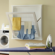 cottage style wall drying rack