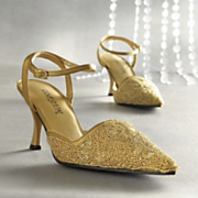 Grace Gold Bead Shoe By Coup DEtat