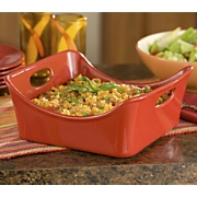 Rachael Ray Red Square Stoneware Baker