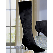 Black Suede Tall Shaft Boot By Bijou