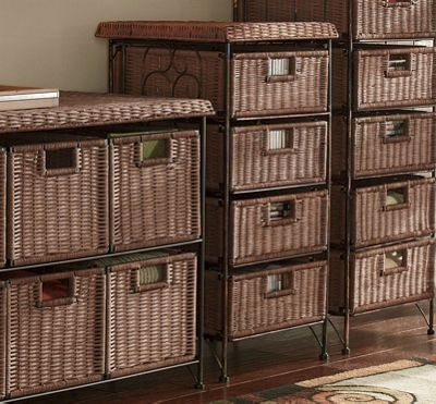 4 Drawer Taboret Wicker Taboret