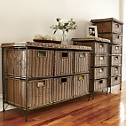 4 drawer wicker taboret