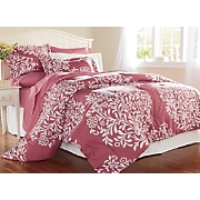 graphic floral comforter set valance panel pair