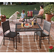 folding metal 3 pc dining set