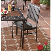 set of 2 folding metal chairs