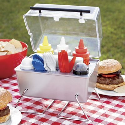 grill condiment holder