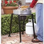 double outdoor fryer