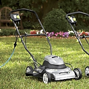 corded electric lawnmower mulcher